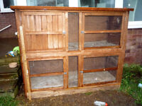 Rabbit / Guinea pig Hutch. Price now reduced.