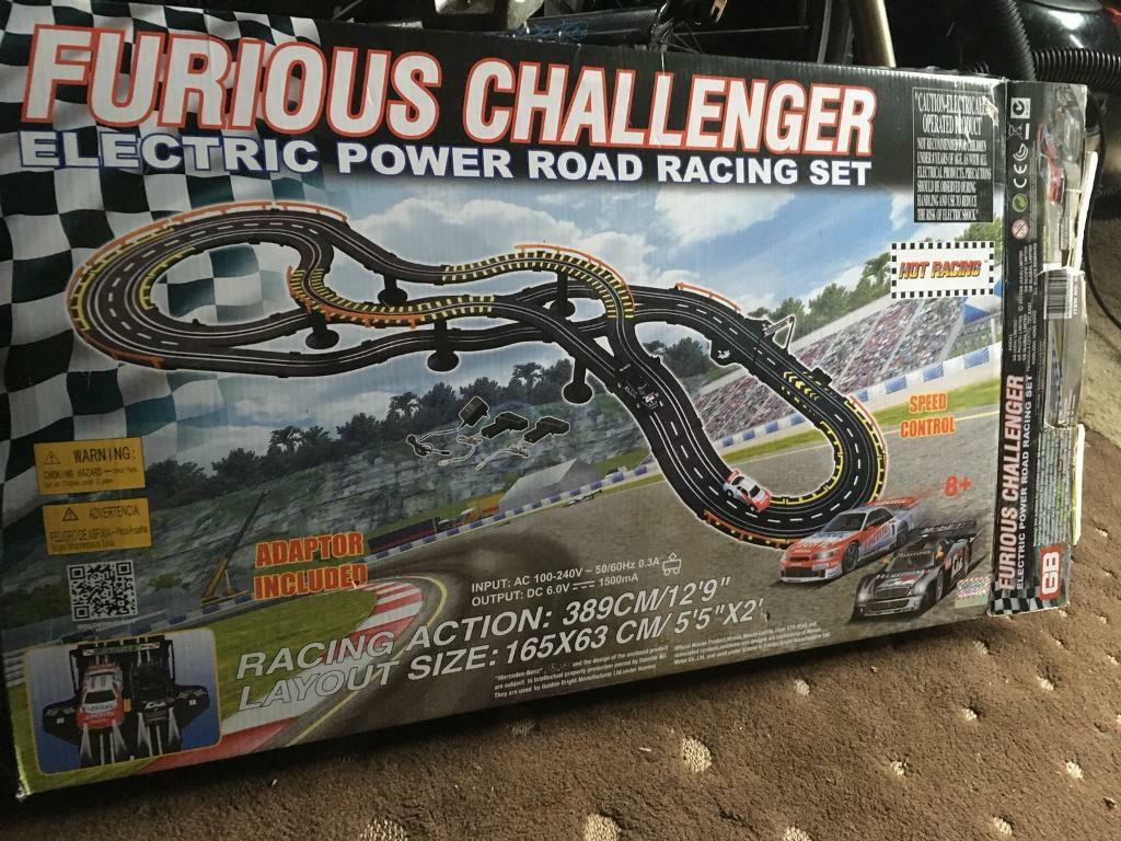 Electric power road racing set