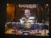 Iron Maiden two sided poster and two sided beer mats -BRAND NEW