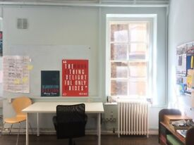 2 x Desk Space in Small, Bright Office in the Heart of Covent Garden