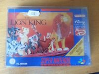 SNES Super Nintendo Lion King rare Blue box good condition complete with manual & protective sleeve