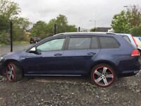 2013 63 reg vw golf 1.6 tdi diesel Estate bluemotion se f s h 2 set of keys £5895