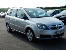 2008 vauxhall zafira 1.6 petrol exclusive, low miles, motd jan 2019 all cards welcome