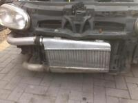 Front mount intercooler and pipes twin pass