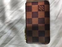 Louis Vuitton checkerboard zip purse, unisex