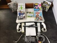 wii console ,games , & fit board