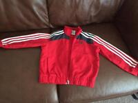 Boys Authentic Adidas tracksuit top 4-5 yrs £4
