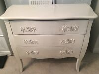 3 DRAWER SHABBY CHIC FRENCH STYLE SET OF DRAWERS