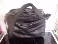 Men's Black PVC laptop bag with New York City design embossed