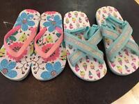 Girls shoe and clothing bundle age 5-6/6-7