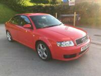 **AUDI A4 SPORT TDI [130] 1.9 DIESEL 4 DOOR SALOON RED (2004 YEAR)**