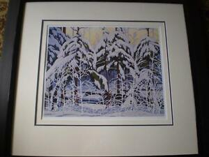 """A.J.Casson-""""Snow Laden Spruce"""" Limited Edition Print"""