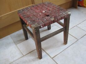 Children's wooden stool.