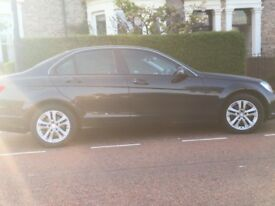 Mercedes C180 Executive SE BLUE CY A --- Black 4 door saloon,petrol,automatic,excellent condition