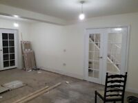Plastering painting tiling bathrooms fitting rendering extensions loft conversion etc