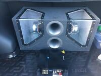Urban sound subwoofer with alpine amp