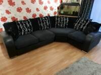 Rounded corner sofa