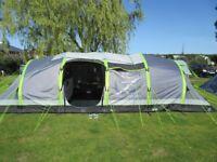 Hi Gear Nimbus 8 Airgo Tent plus Porch. With Instructions, Pump, Repair Kit. Massive tent, sleeps 8