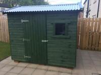 8x6 rough wood shed - 5 year preserve treated