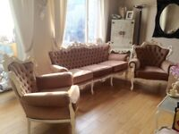3 piece suite French Italian Baroque style
