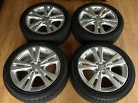 Genuine Mercedes A Class W176 Alloys x4 complete with YOKOHAMA tyres & TPMS valves