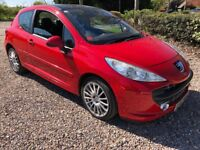 Peugeot 207 GT HDI 110 1560cc Turbo Diesel 5 speed manual 3 door hatchback 57 Plate 19/02/2008 Red