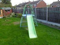 Childs climbing frame/slide