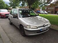 PEUGEOT 106 1.1 PETROL MANUAL 3 DOOR HATCHBACK SILVER GOOD DRIVE CHEAP CAR SILVER MOT NOT CORSA CLIO