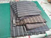 Fabric bundle blacks/greys/blues and browns