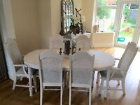 French style shabby chic dining table