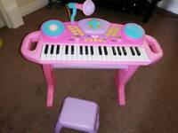 Child's keyboard and stool