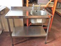 Single Bowl Sink Left Hand Drain 100cm EU0004