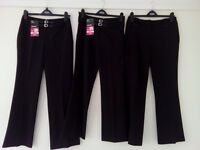 3 New Bhs (2 with Tags) Girls School Trousers Age 13/14