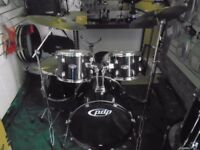 PDP 5 Piece Drum Kit made by DW 10 12 16 tom tom 22 kick and 14 snare