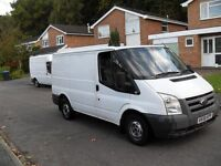 58 PLATE FORD TRANSIT 85 PS T280 FWD 2 OWNERS HISTORY NEW MOT AND NO VAT NOT VAUXHAL VIVARO