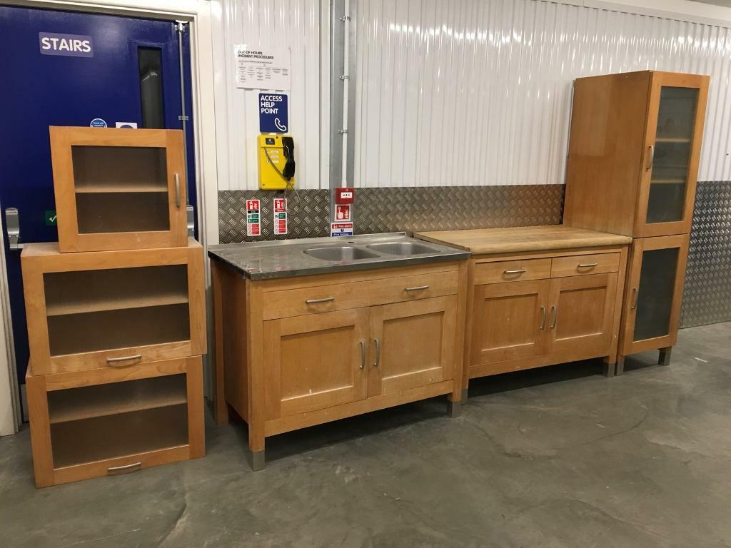 M&S solid Beech freestanding kitchen inc sink unit Laura Ashley habitat  John Lewis Olivia varde loaf | in Sutton, London | Gumtree
