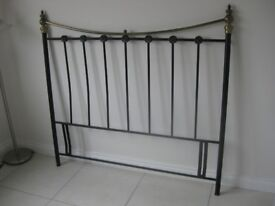 BRASS AND BLACK PAINT BED HEAD
