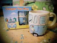 Camper Van Peace Mug in Gift Box