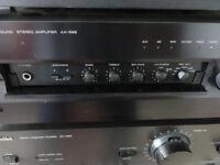 Audiophile vintage Yamaha Pre/Power Amplifier AX 596 with Original R-Control