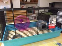 Hamster cage fully equipment and food