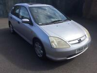 honda civic 2001 y reg 5 door hatchback service history 1 owners from new moted