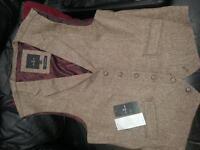 """Jeff Banks Tweed designer 44"""" waistcoat"""