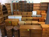 Quality used solid wood / pine bookcase, bureau, dresser & more