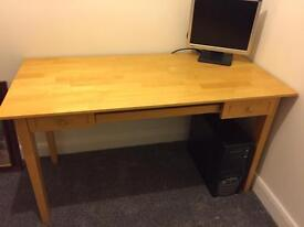 Quality light Solid wood Computer work station