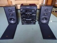 Technics Stacker System With 3 Way Technics Speakers Record player, Amp, CD , Cassette & Tuner