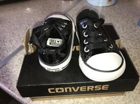 Converse black glitter shoes