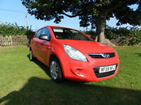 2009 Hyundai i20 1.2 petrol. 5 dr. One owner, low mileage. 2010 model with ESP.