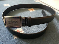 HUGO BOSS MEN'S BELT*LEATHER*AUTOMATIC BUCKLE*BRAND NEW*VERY CHEAP