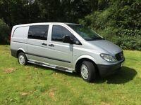 Mercedes Vito 111 CDi LWB 5 Seats Crew Cab