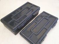 Korum tackle boxes x 2